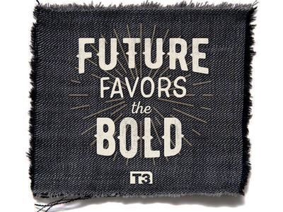 Creative Ranch Desk Flag patch illustration bold future fabric flag typography