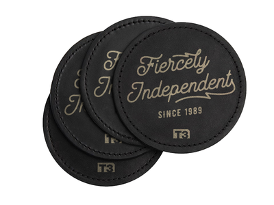 Creative Ranch Coasters stamp illustration leather typography coaster