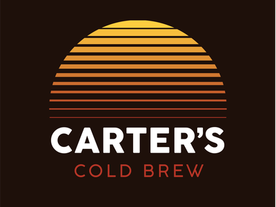 Carter's Cold Brew - Branding gradient cocogoose orange yellow graphic design sunrise cold brew coffee branding logo