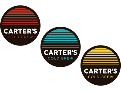 Carter's Cold Brew - Sub Logos icon patch label sunrise palette color design coffee cold brew logo
