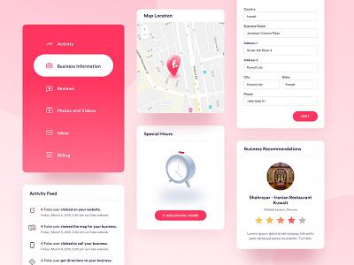 Dashboard Components icon b2b minimal webdesign website visual webapp components dashboard app ui startup enterprise web design