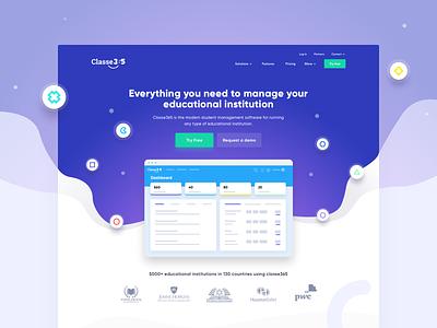 Classe365 - Landing page b2b ui illustration website web design