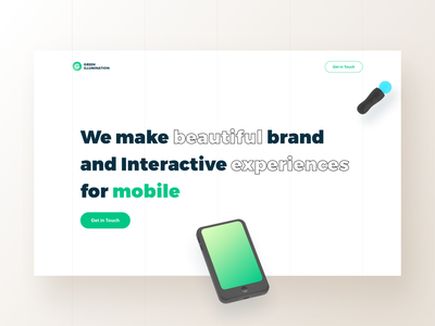 Green illumination - Agency flat minimal icon ui uiux illustration brand branding mobile website design design agency webdesign landingpage website web