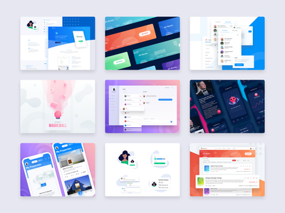 Best of 2018 2019 icon web design ux 2018 best 9 ios android typography enterprise admin dashboard logo ui mobile illustration gradient website web design app