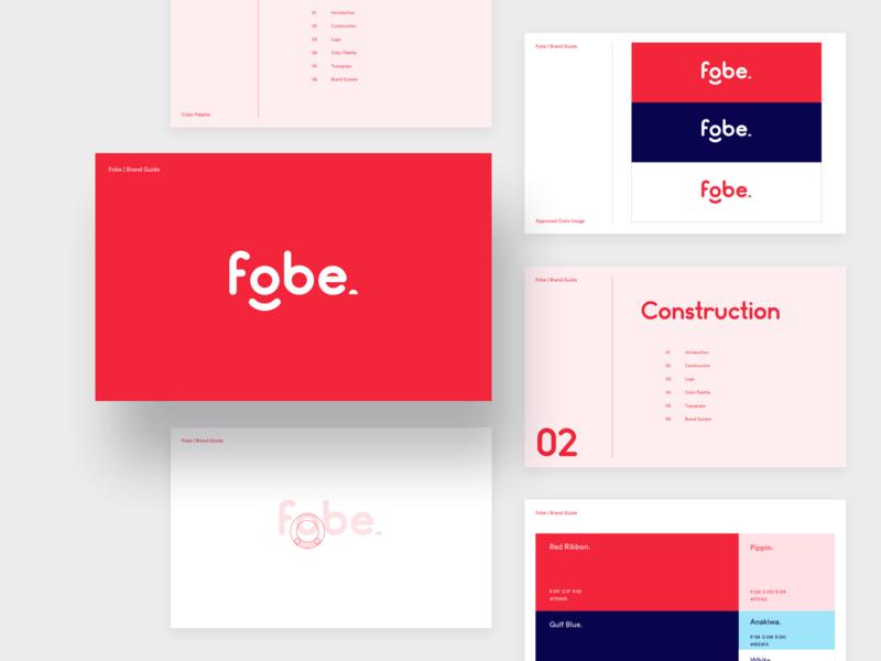 Fobe - Brand Guidelines website branding visual identity designer smile happy wordmark startup identity mark food software development guideline design system brand strategy brand identity typography logo brand