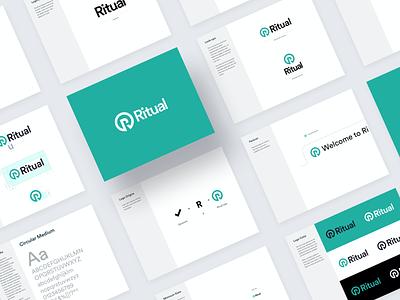 Ritual - BrandBook mobile guidelines mark typography color palette design app startup brand agency brand guide brand book designsystem logotype vector logo branding