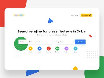 Classified ads - landing page uxdesign uidesign visual design startup b2c app design ux uiux ui typography webdesign website web landing