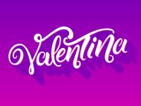 Valentina lettering logo