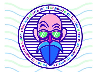 Roshi master icon master goku roshi character illustration restudio