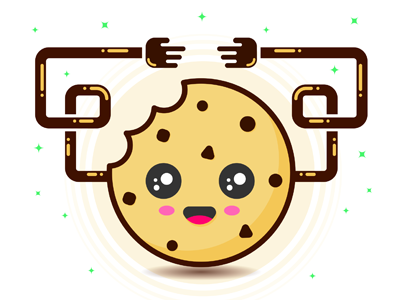 Cookie illustrator cookie kawaii character design vector illustration restudiomx