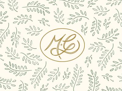 M + G Wedding Monogram handlettering branding illustration graphic design typography wedding invitation wedding