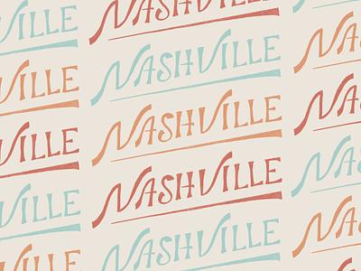 Nashville travel design handlettering typography illustration