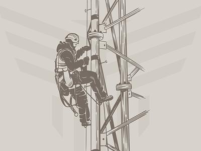 Climber Illustration vector tower climber procreate caliber creative design branding graphic design illustration