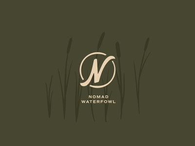 Nomad Assets grass duck green branding vector hunting outdoor cattail illustration icon