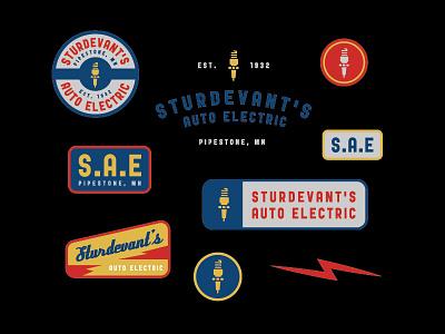 Retro SAE badge retro graphic design