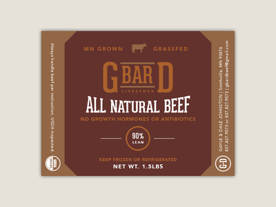 MN Grown Ground Beef Label agriculture typography packaging label graphic design
