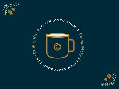 Caliber Christmas Gifts typography design packaging gift box caliber creative mug pine cone illustration christmas holiday