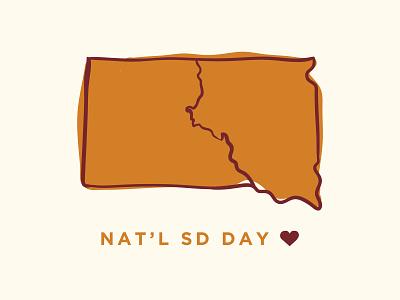 SD Day caliber creative sketch south dakota vector design illustration graphic design