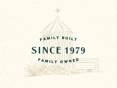 Oakridge Nursery nursery landscaping family plants greenhouse garden branding design vector illustration graphic design typography