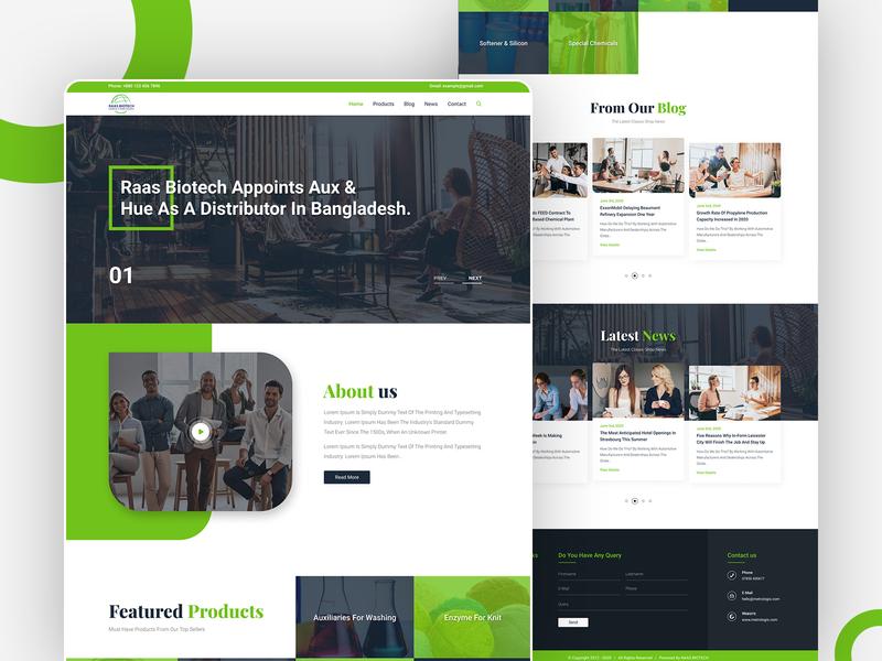 RassBiotech biotechnology chemical webdesign landingpage branding ux ui new trend design