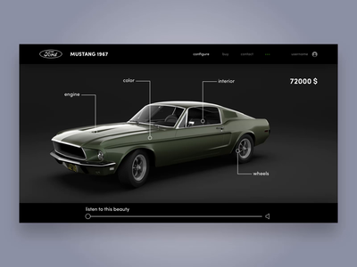 Mustang 3D - animated app