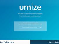 Umize.com Landing / Lead Collection