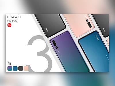 Huawei P20 Pro shop page design huawei android phone market shop design ui web