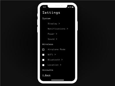 Daily UI 007 app concept settings 007 xd adobe adobexd ui app dailyui