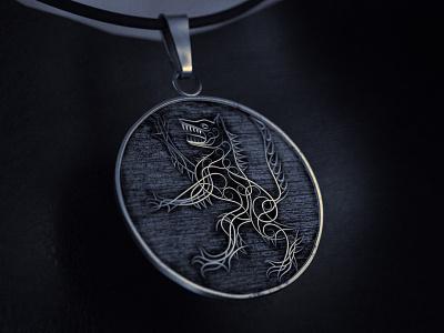 The Witcher medallion motiondesign dailyrender render design netflix titlesequence geralt wolf 3d cinema4d octanerender otoy octane witcher medallion