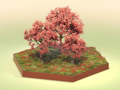 Spring is in the air digitalart bloom tree illustration dailyrender everyday 3dart otoy octanerender spring design octane c4d