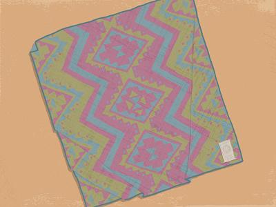 Blanket Shot 3 blanket winter illustration autumn triangles pattern