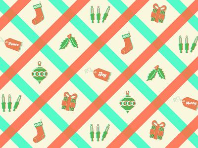 Another Christmas Pattern present christmas stocking bauble christmas ornament light bulbs tag mistletoe anaglyph 3d pattern santeli