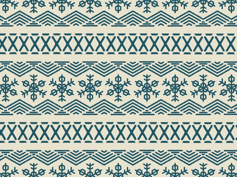 Snowflake Pattern winter pattern hexagon nordic snowflake snow flake