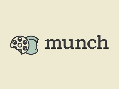 Munch munch bookman old style reel plate food movies meal