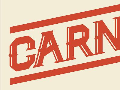 Carn Crop carn typography work