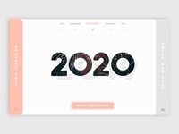 New Year 2020 Web Design Dribbble Doxorb