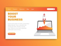 Boost Your Business landing Page