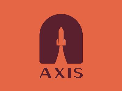 Axis vintage retro branding axis rocket logo