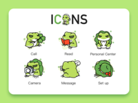 Travel frog interface icons