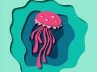 Paper Cut Octopus