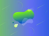 fluid shapes, geometric background