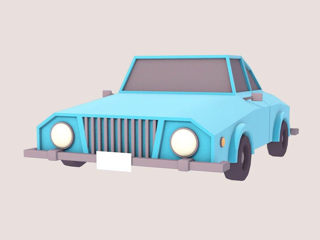 Low Poly 3D Car in Cinema 4D motion-graphic cinema4d 3d modelling