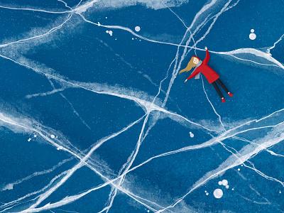 Baikal ice ipadproart baikal procreate art illustration