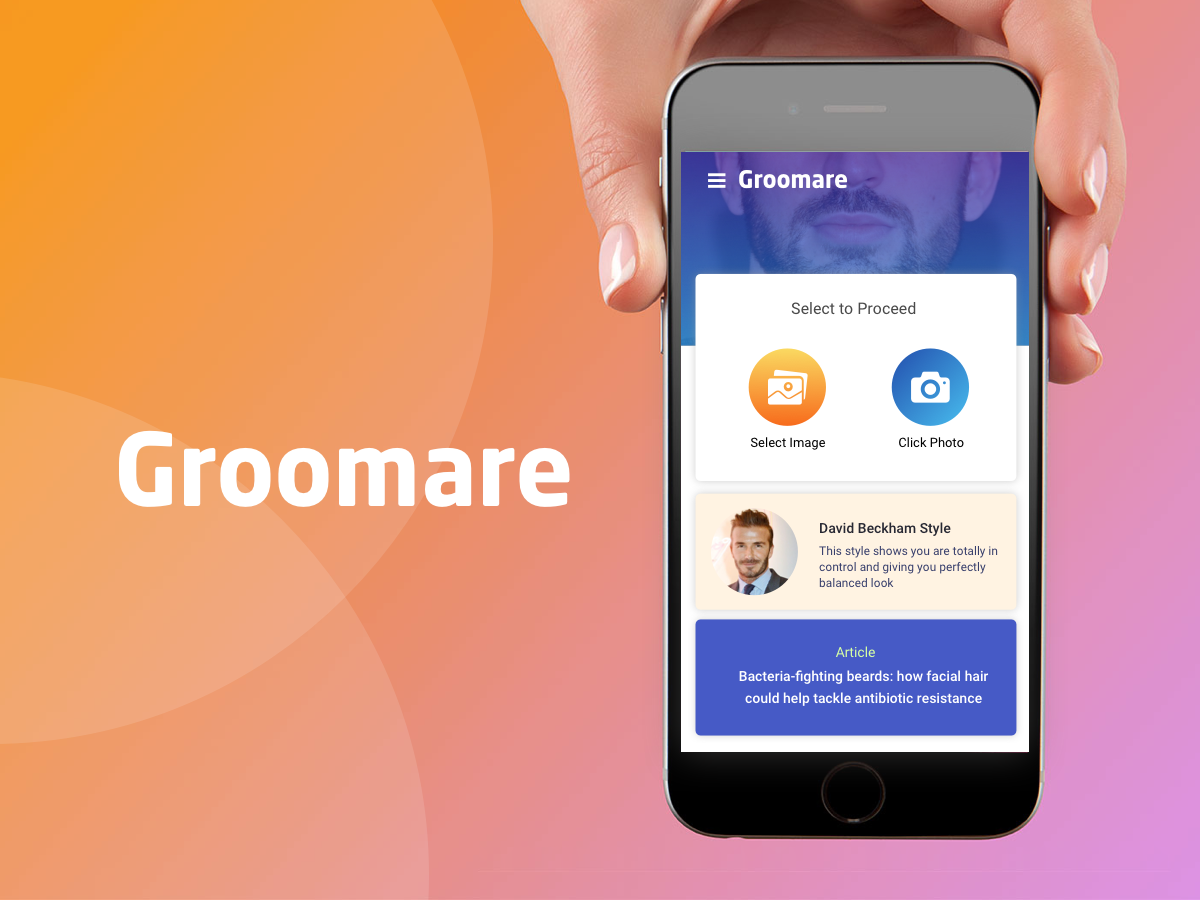GROOMARE user experience design user interface design