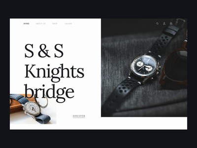 Watches site web motion watch stylish ux ui after effect webdesign design website clean watches