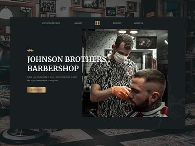 Barber shop web barbers gold black landing clean man stylish dark ui barber barbershop website ux ui webdesign