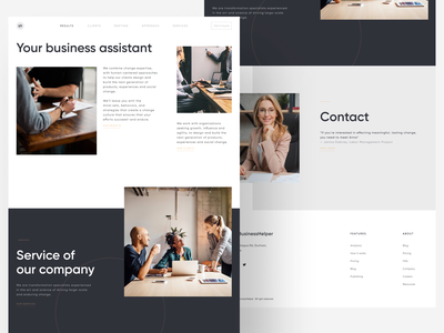 Your Business Assistant interface typography website landingpage clean ux ui business