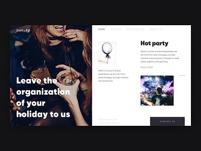 Event Web typogaphy web design website party clean events