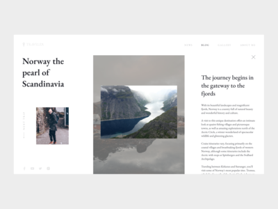 Travel blog ux ui typography website travel blog design clean design webdesign