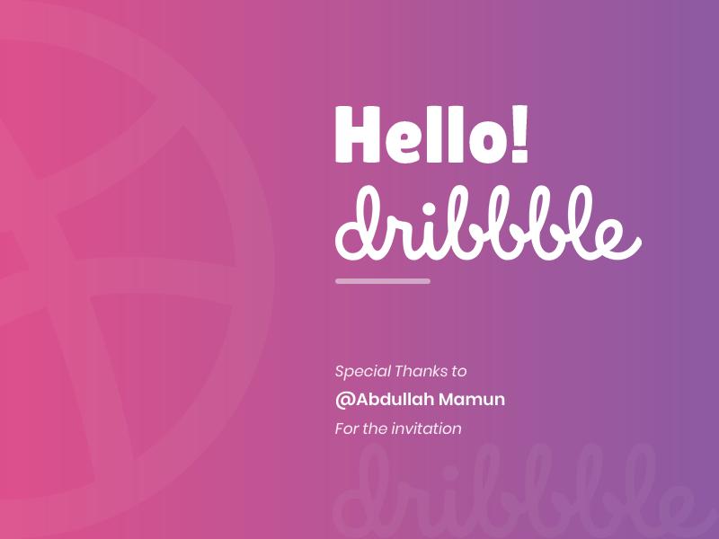 Hello! Dribbble website design hello dribbble ui ux designer